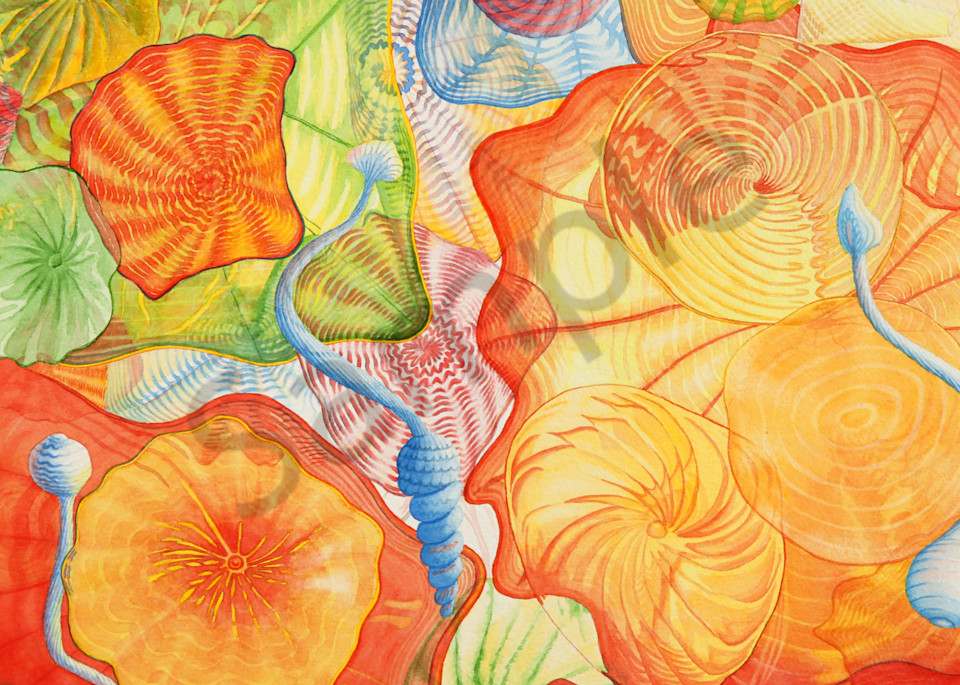 Glass Dreams watercolor print available in paper, metal, acrylic, canvas and wood by Beth Owen.