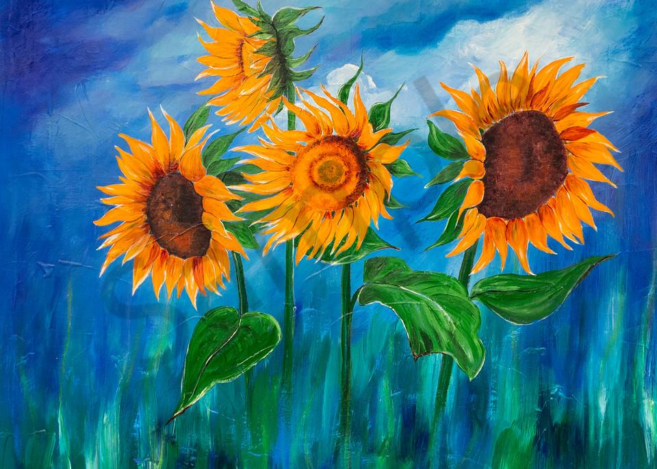 """Sunflowers"" by German Prophetic Artist Angela Günther   Prophetics Gallery"