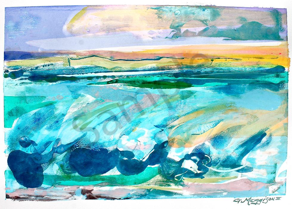 Big Surf | Abstract Watercolors and Oil Monoprints | Gordon Meggison IV