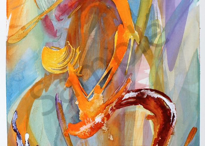 Dancing Energy   Abstract Watercolors   Gordon Meggison IV