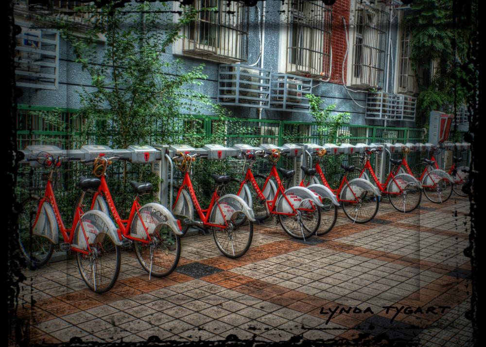 Lynda Tygart Beijing China Rental Bikes – Fine Art Photographs Prints on Canvas, Paper, Metal & More.