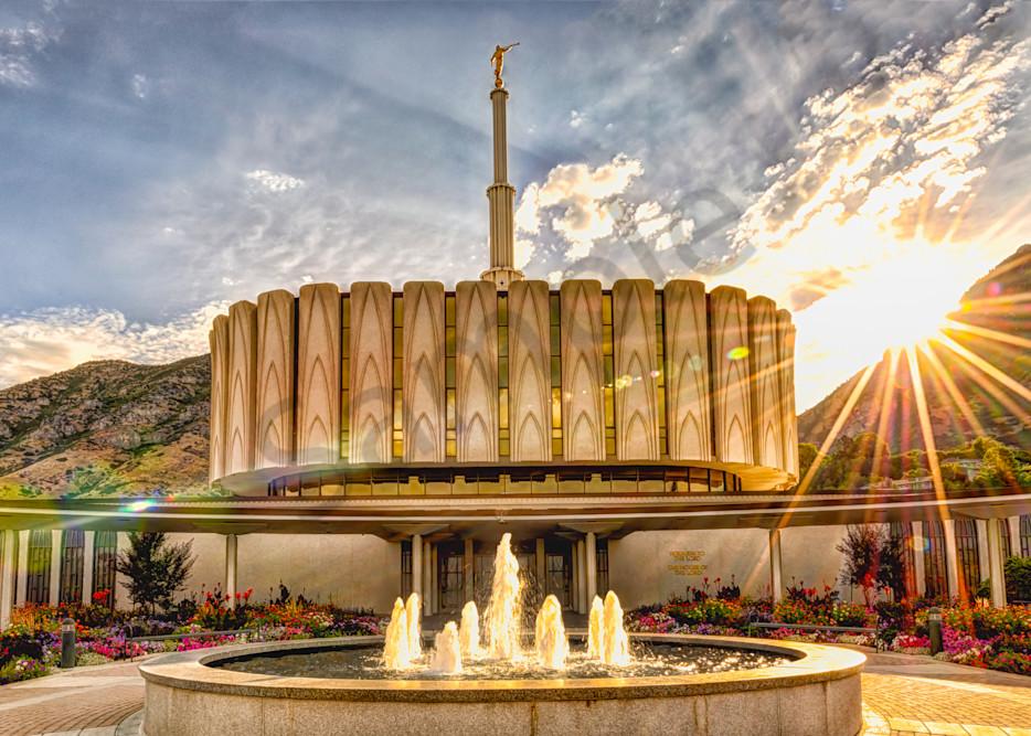 Brightly Beams - Provo Utah LDS Temple