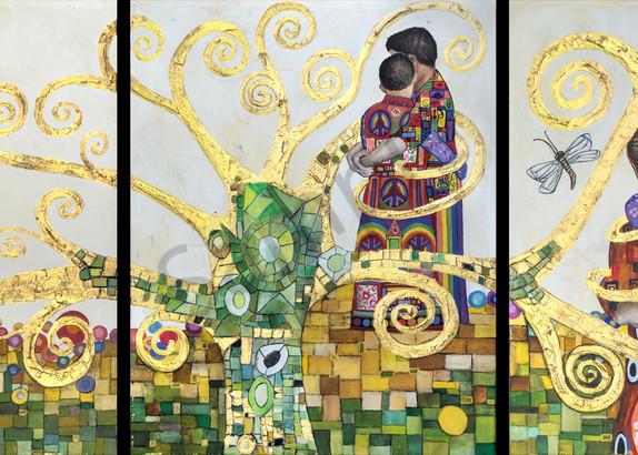 Designs by Teri | Teri Vereb Fine Art Paintings | Embracing Love | Klimt