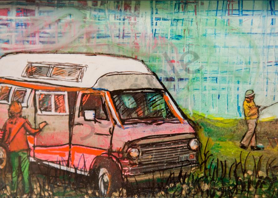 Salmon Van Art | Haley Litzinger