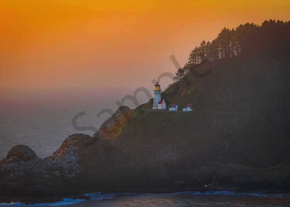 Haceta Head Lighthouse 1 Photography Art | John Martell Photography