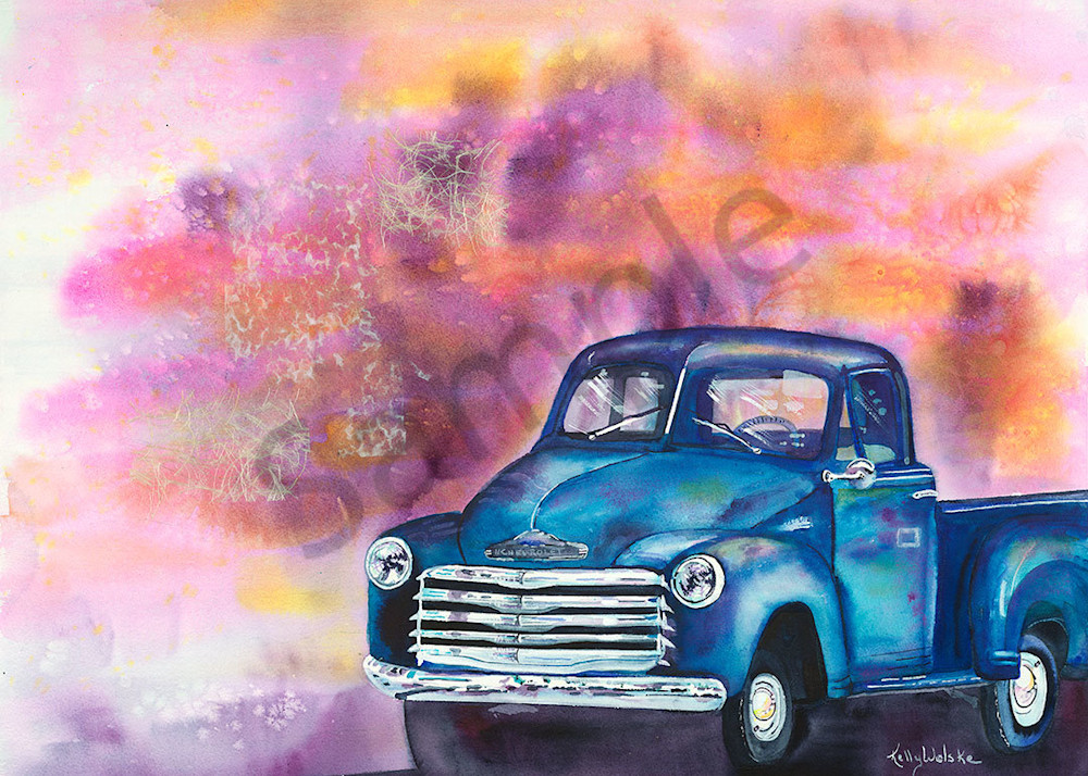 """""""Skagway Chevy"""" fine art print by Kelly Wolske."""