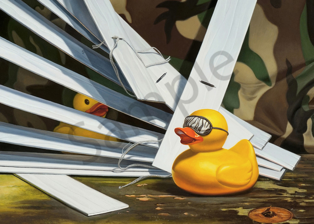 """Duck Blind"" term used literally with rubber ducks"
