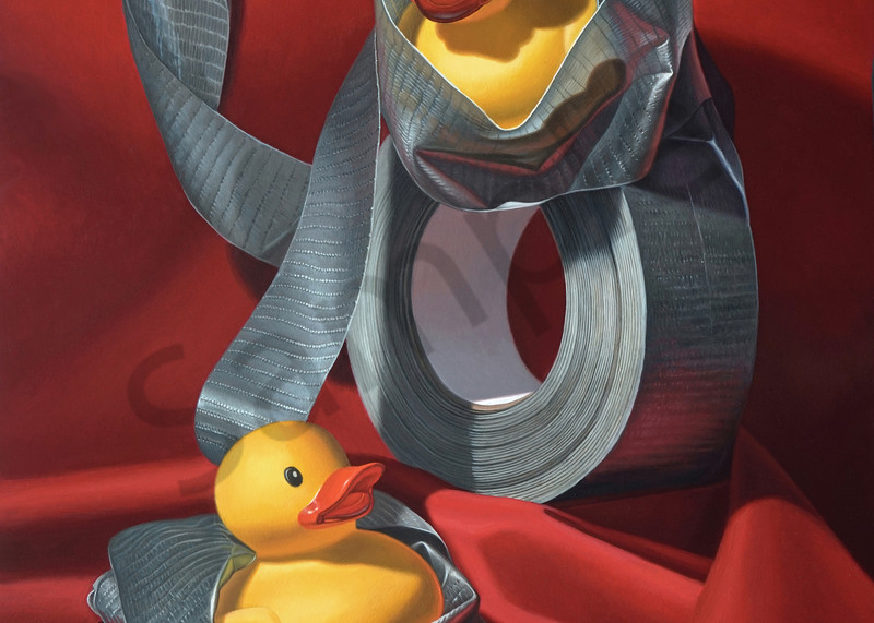 """""""Duck Tape"""" shows rubber ducks wrapped in duct tape"""