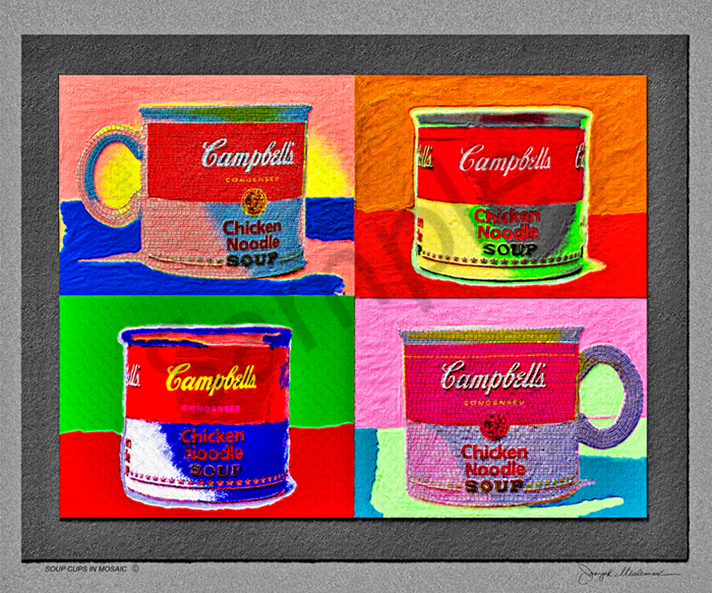 Pop Art Style Soup Cups - The Gallery Wrap Store