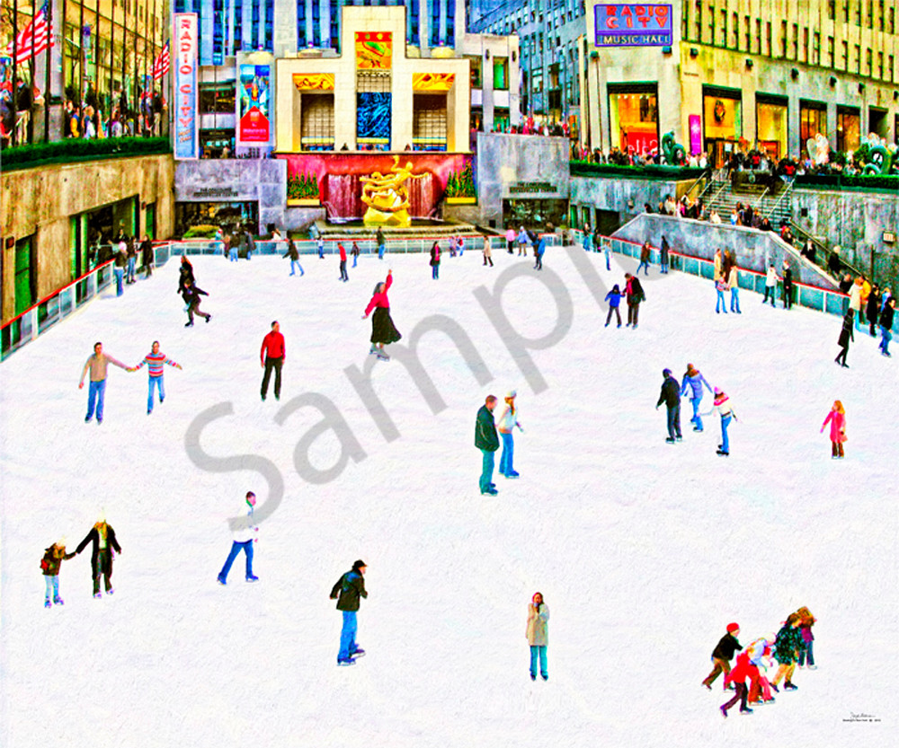 Ice skating wall art print - The Gallery Wrap Store