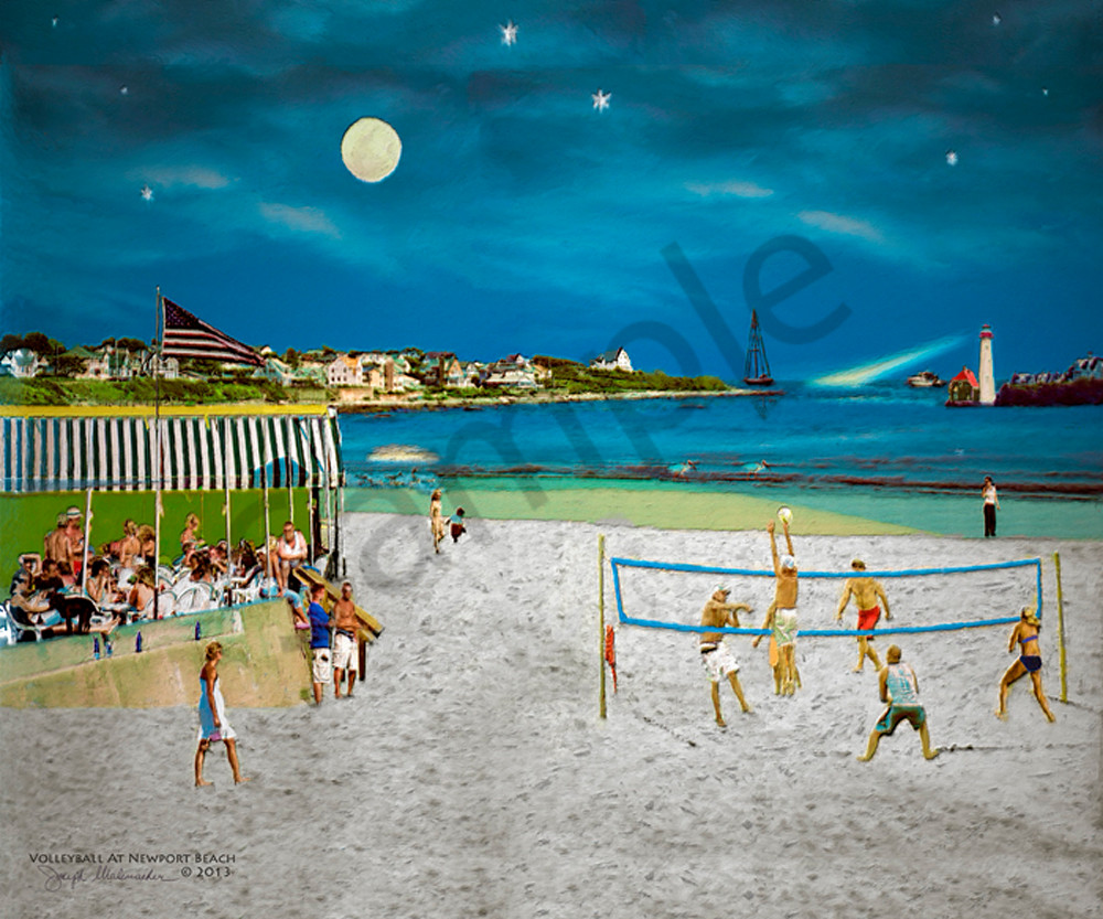 Volleyball Art At The Beach - The Gallery Wrap Store