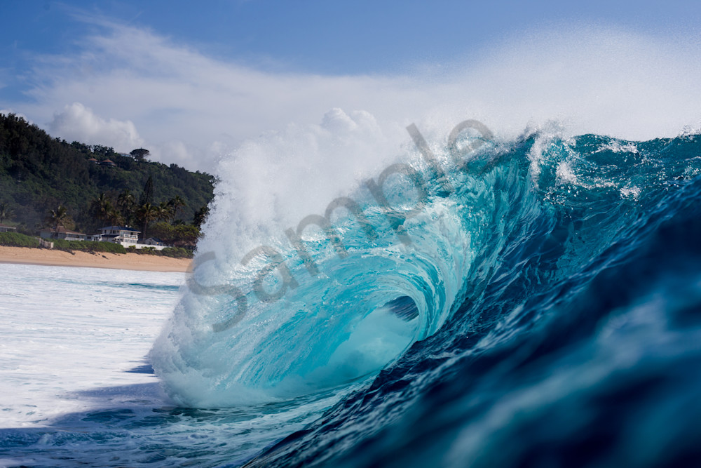 Surf Photography | Teal Crest by Doug Falter