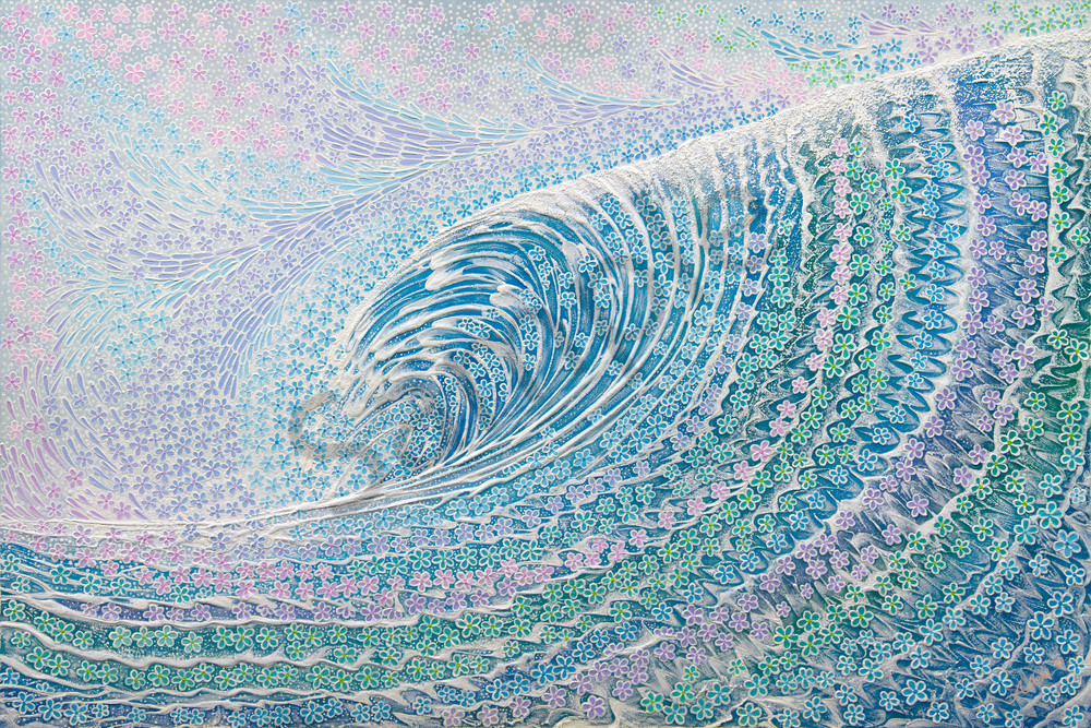 Fine Art Painting Plumeria Wave Ii By Alan Aoki