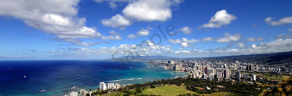Hawaii Photography Waikiki From Diamondhead By Angie