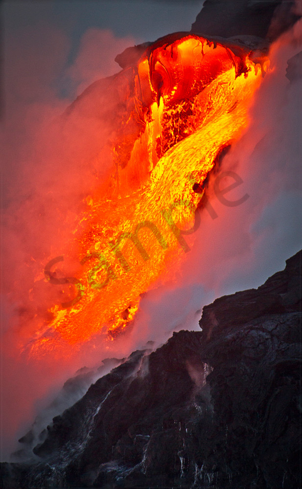Hawaii Photography Fiery Flow By Leighton Lum