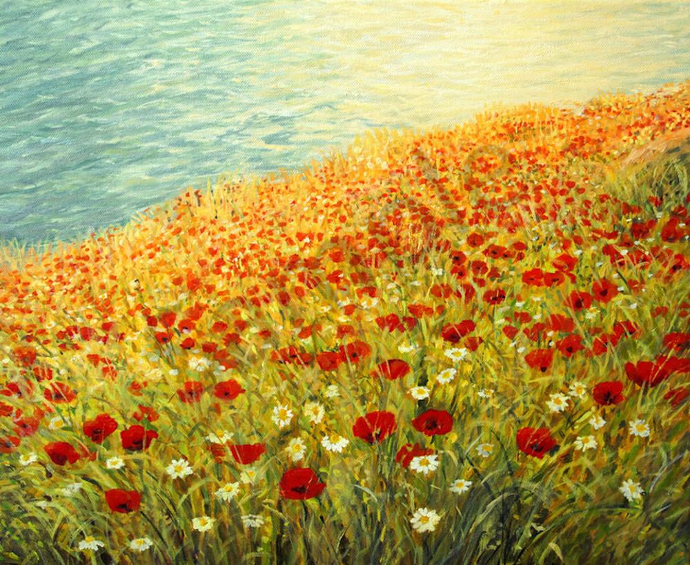Poppies at the Seashore