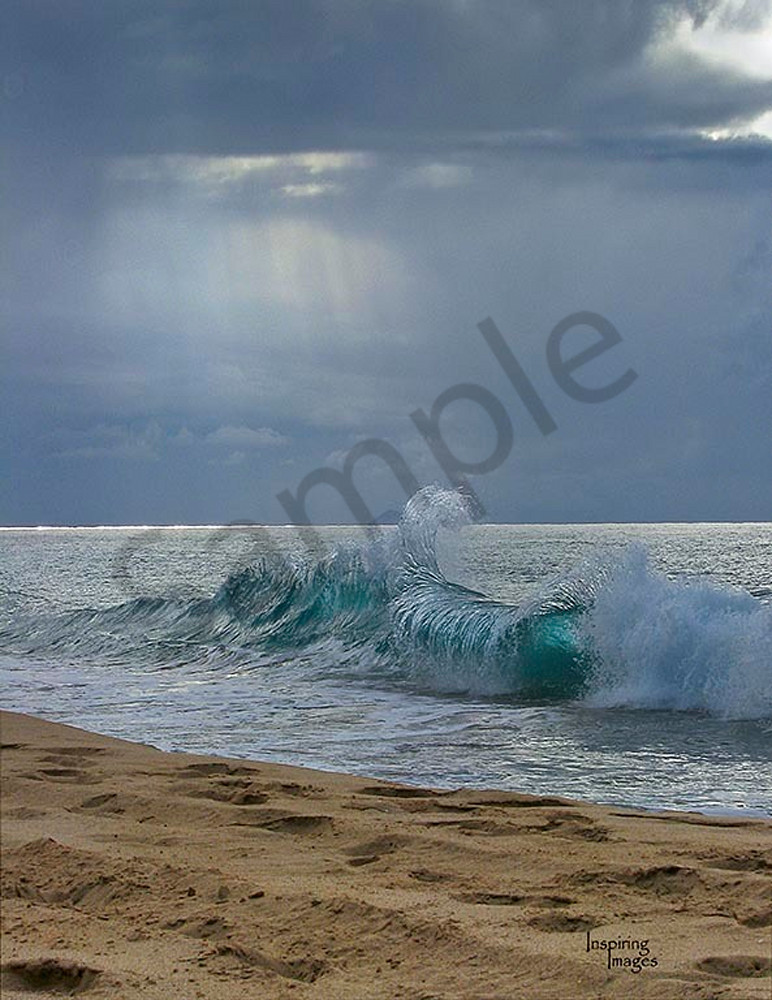 Clapping Wave, shore break Polihale Beach Kauai Fine Art Photography, Hawaii