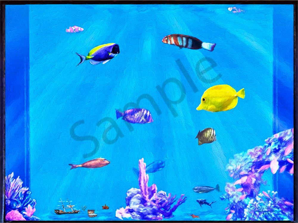 Aquarium Art on Canvas - The Gallery Wrap Store