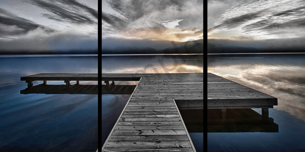 Lake Arrowhead Pier    Trip Tych Photography Art | Robert Jones Photography