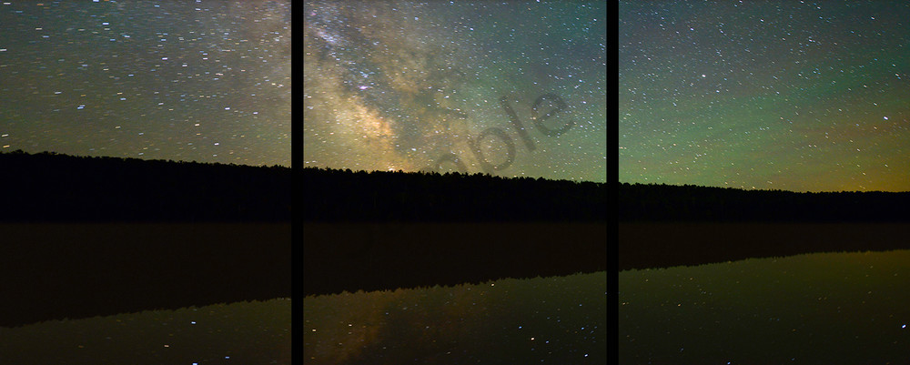 Lake Fanny Hooe And The Milky Way   Trip Tych Photography Art | Robert Jones Photography