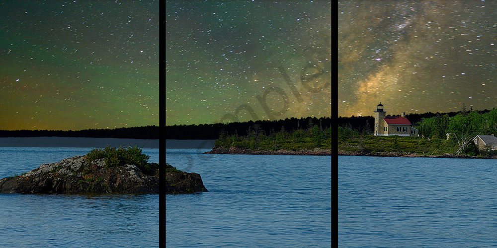 Copper Harbor and the Milky Way - Trip Tych