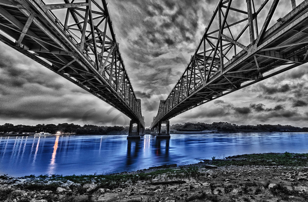 Bridge To Natchez  Photography Art | Robert Jones Photography