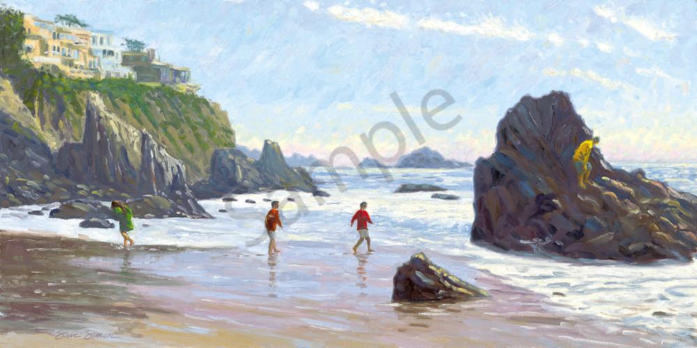 Kids on Corona del Mar State Beach