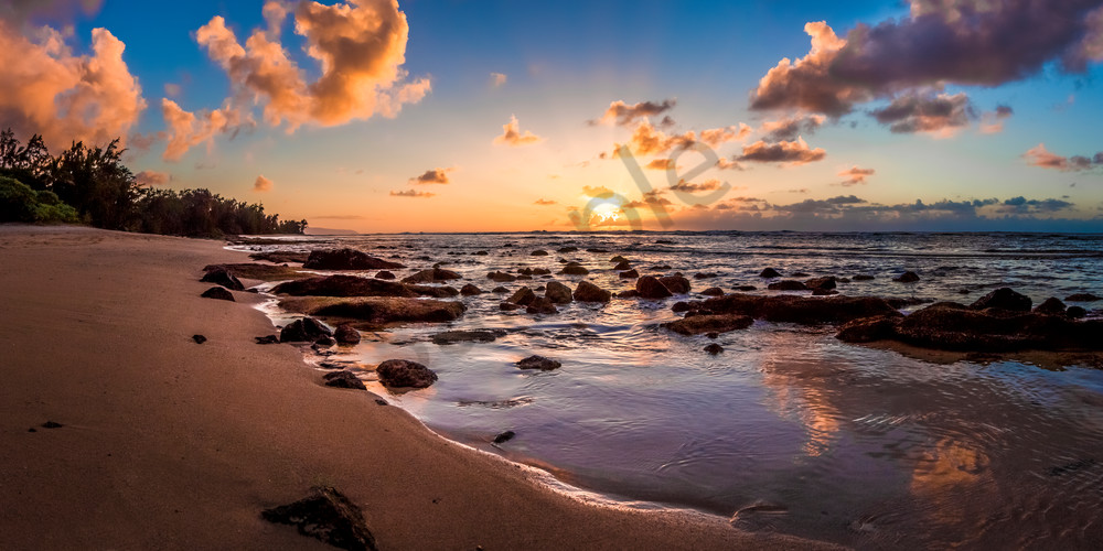 Hawaii Photography Secret Beach Sunset By Douglas Page