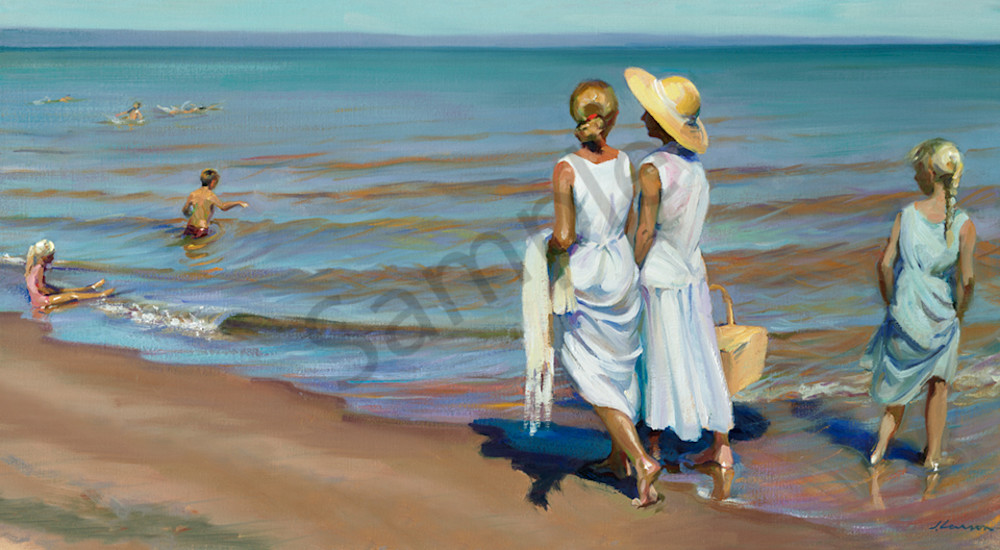 "Beach Walk Day 121 22""x12"""