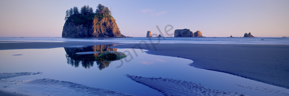Sea stacks on the coast at 2nd Beach, Olympic National Park, Washington