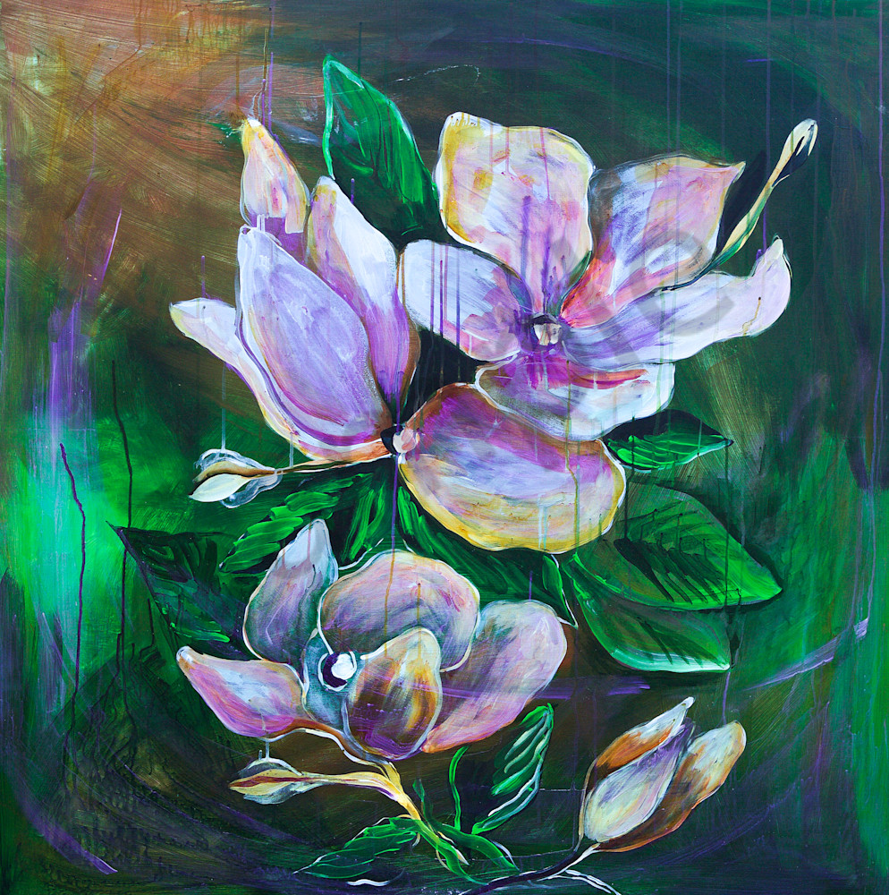 """Bold Magnolias"" by North Carolina Artist Patti Hricinak-Sheets | Prophetics Gallery"