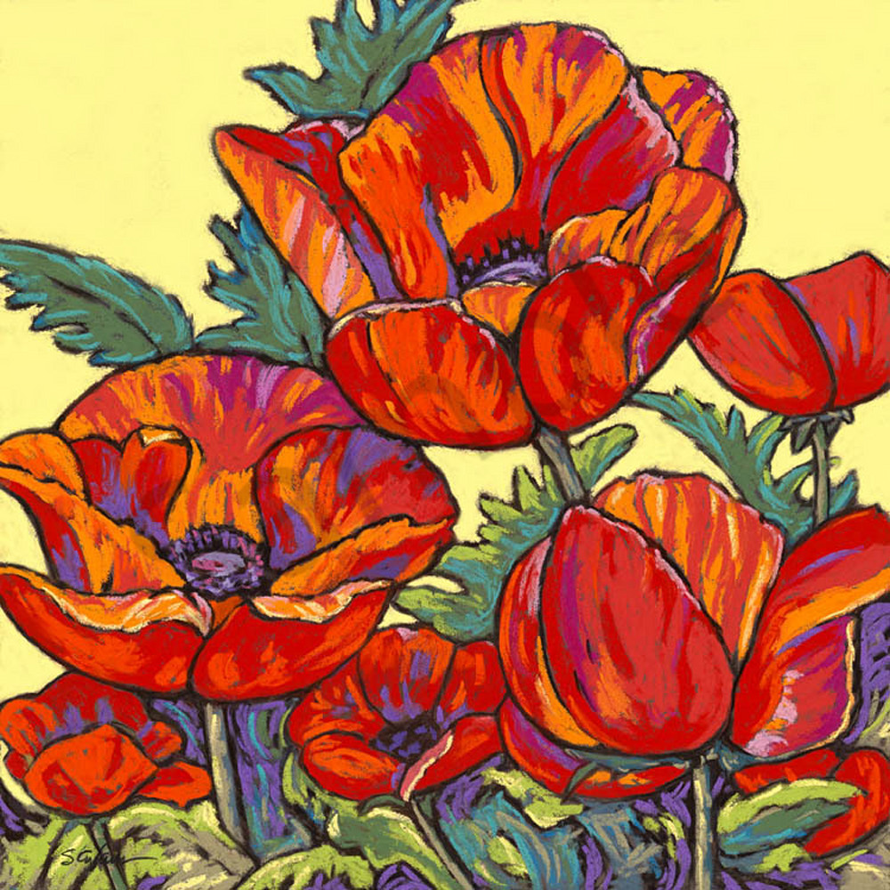 Poppies Dance in Yellow