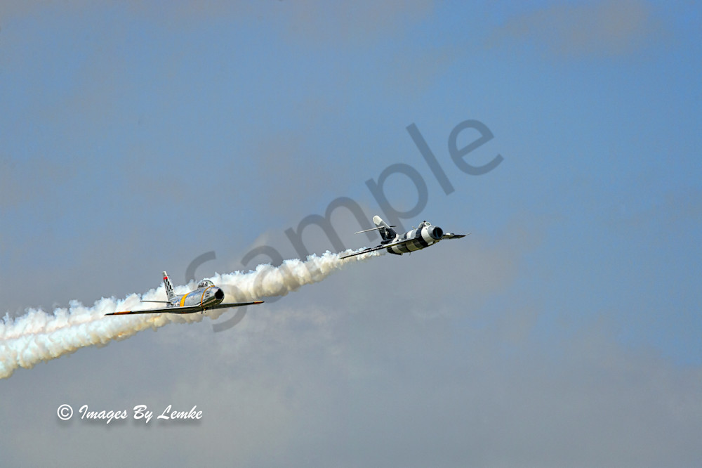 The Show down, F86 Sabre and Mig 17