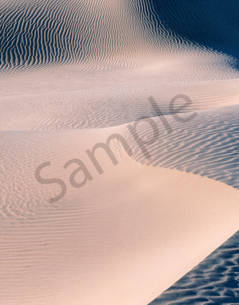 Wind swept sand dunes, Death Valley National Park