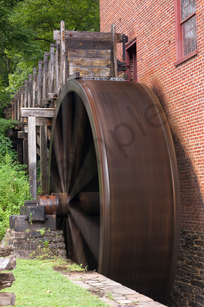 Countryside Wall Art: Water Wheel Turning