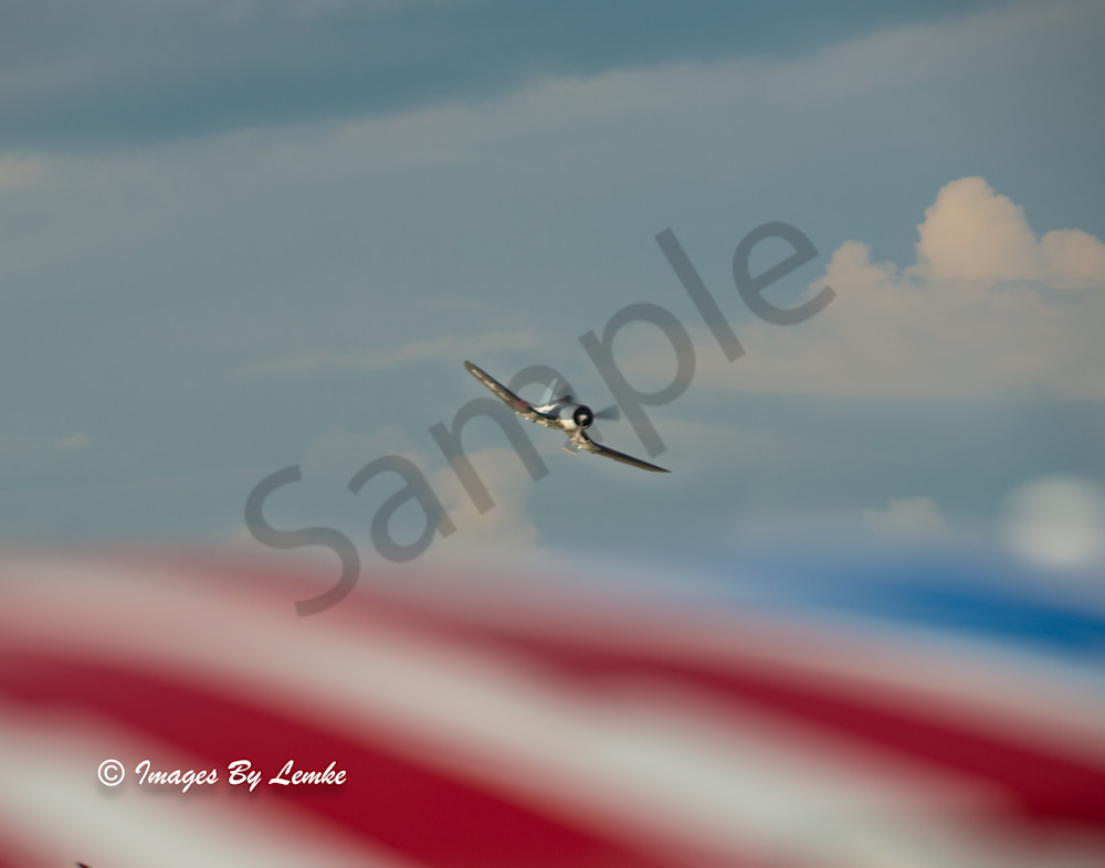 Corsair over Red, White and Blue