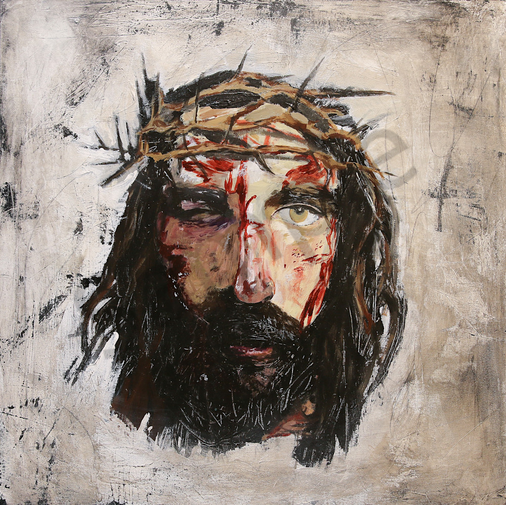 Contemporary Paintings Of Jesus Art Print Christian Painting Wall Devotional