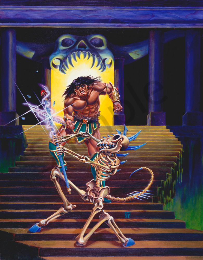 Barbarian and Skeleton Wizard
