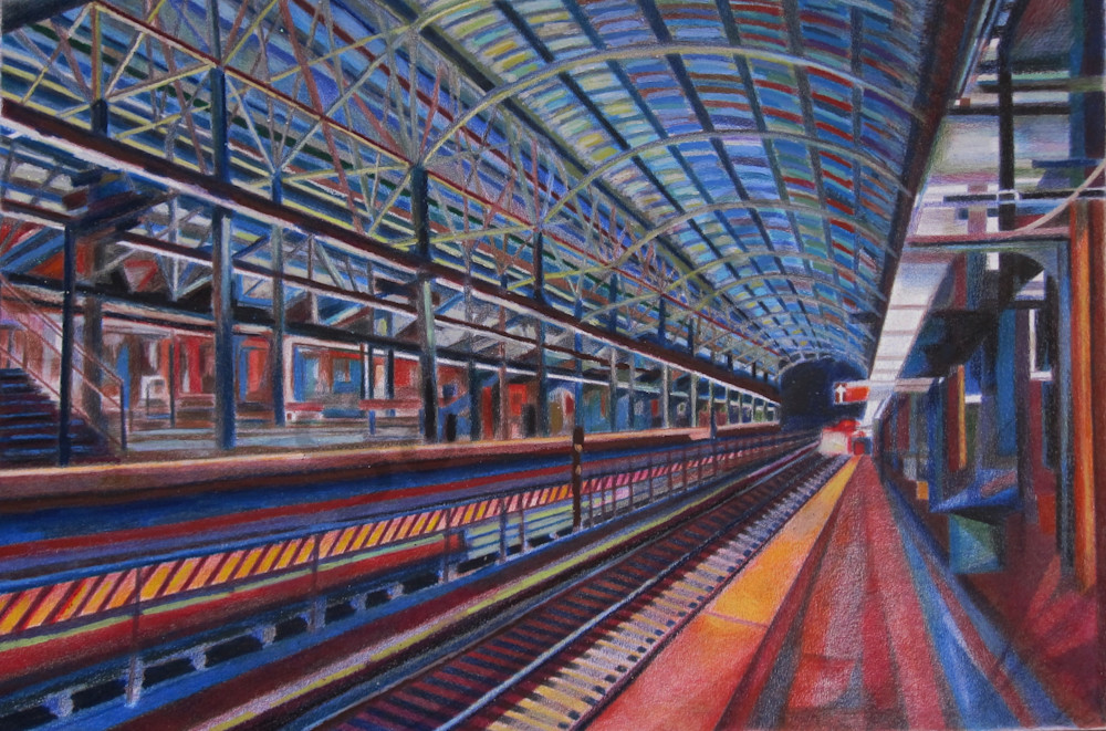 Architecture of A Brooklyn Subway Art and Painting
