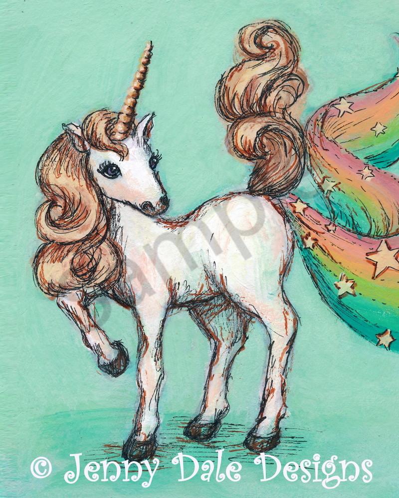 Unicorn Farting Rainbows And Stars Art | Jenny Dale Designs