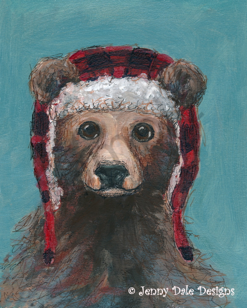Woodland Bear and Hunting Hat