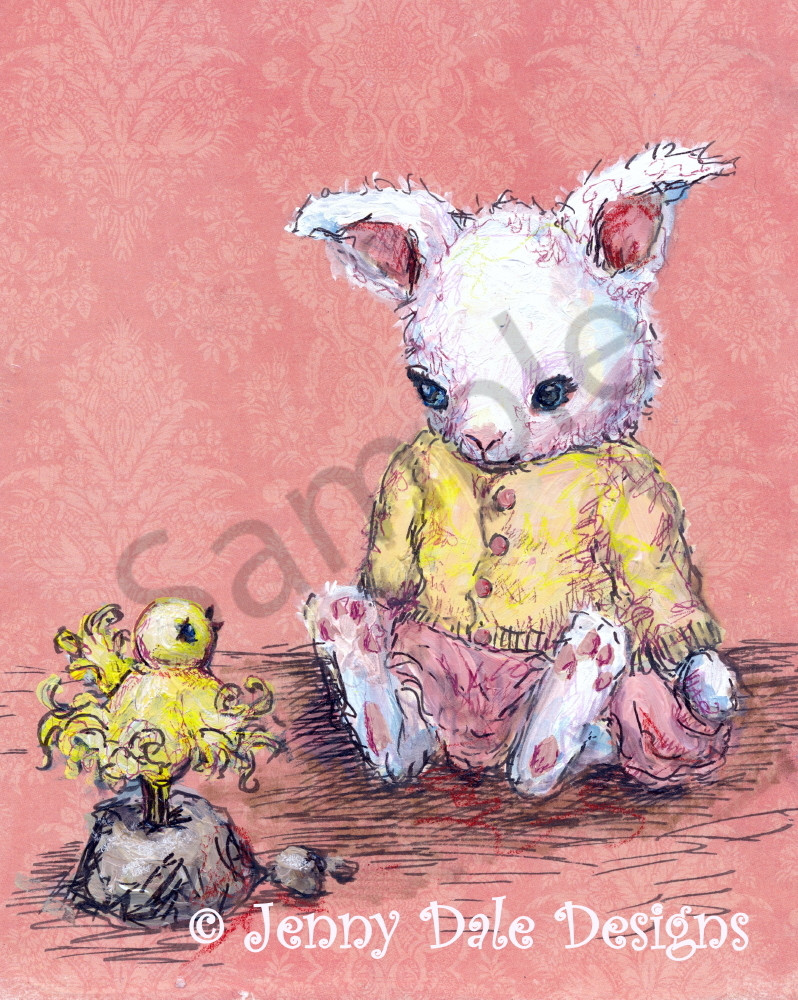 Bunny And Birdie Art | Jenny Dale Designs