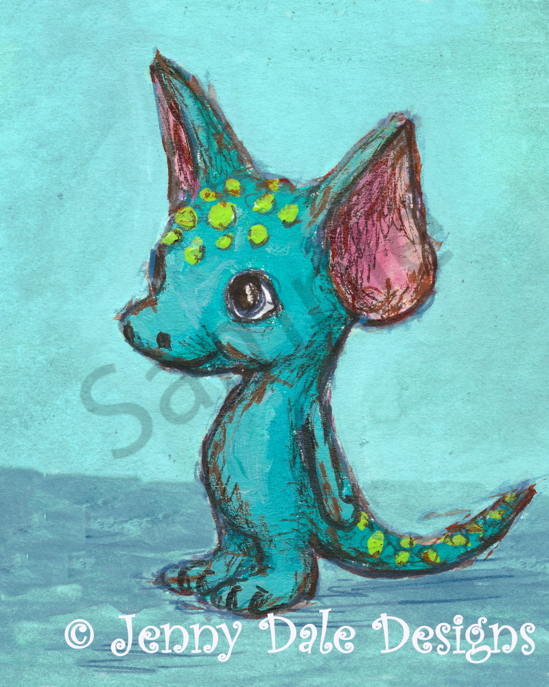 Big-Eared Turquoise Monster