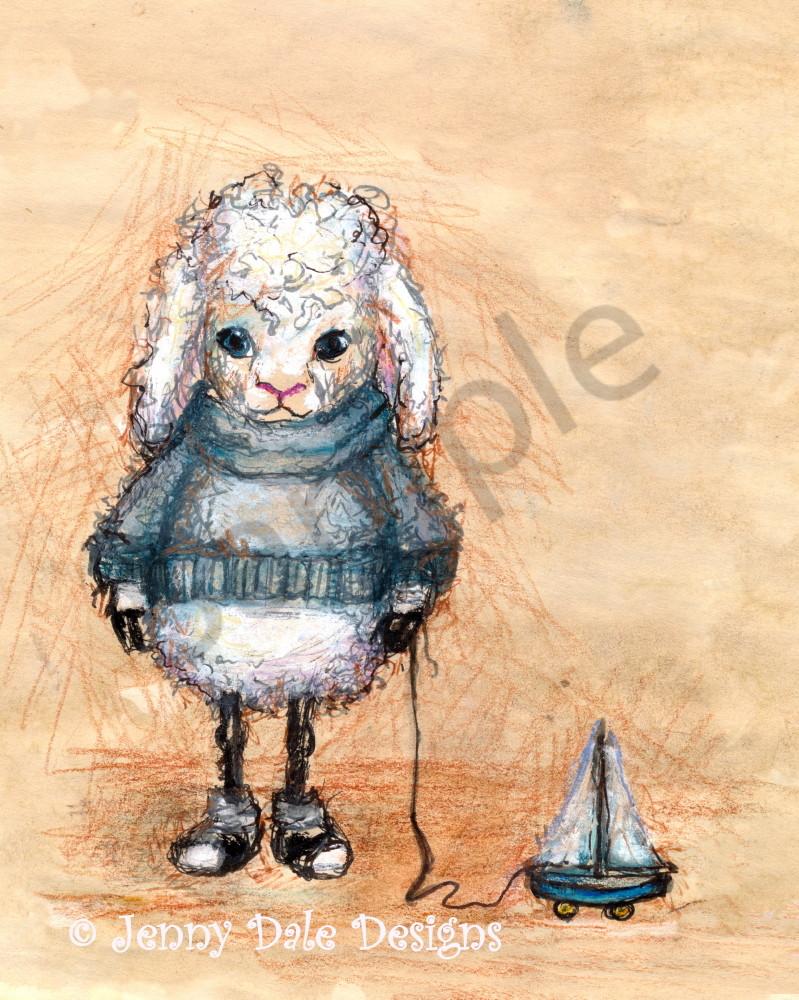 Albert The Lamb Art | Jenny Dale Designs