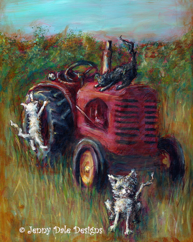 Farm Cats Art | Jenny Dale Designs