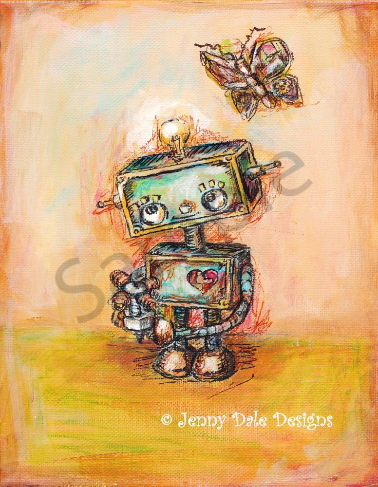 Robot's Flower Art | Jenny Dale Designs