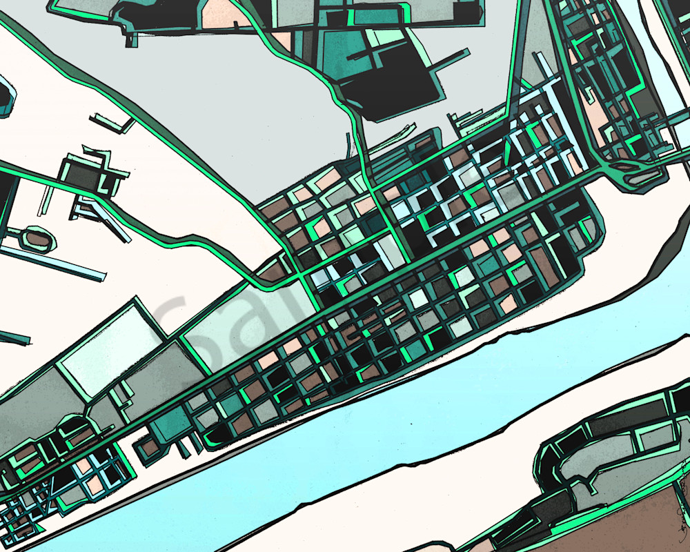 Modern art of beaver pa for sale online wall art print abstract map print of beaver