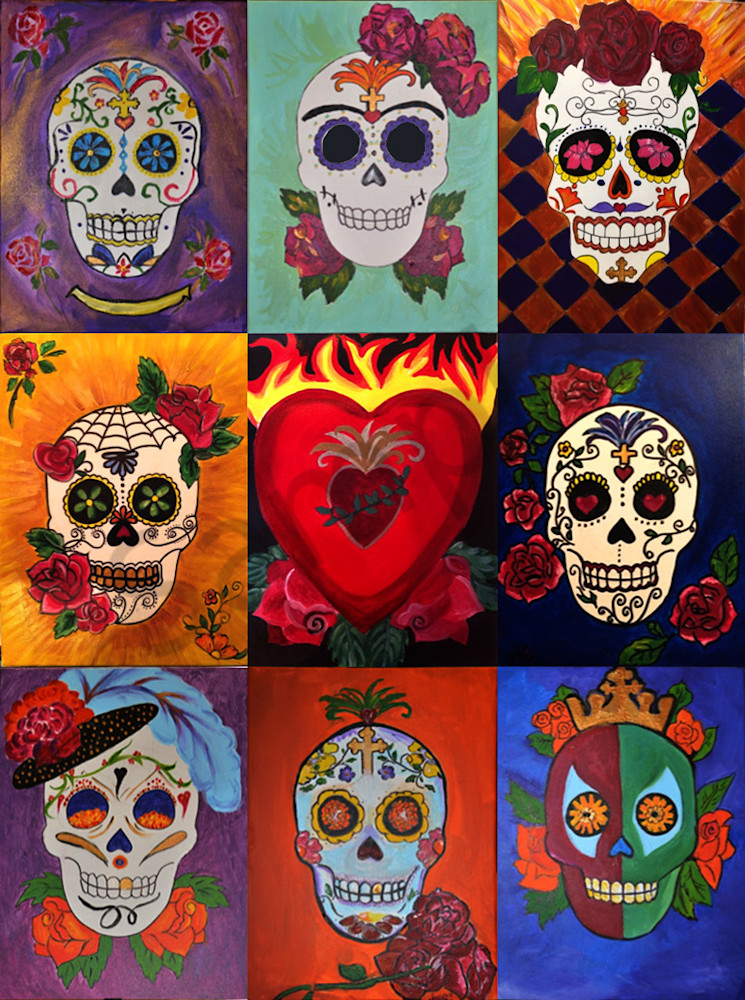 Sugar Skull Collage