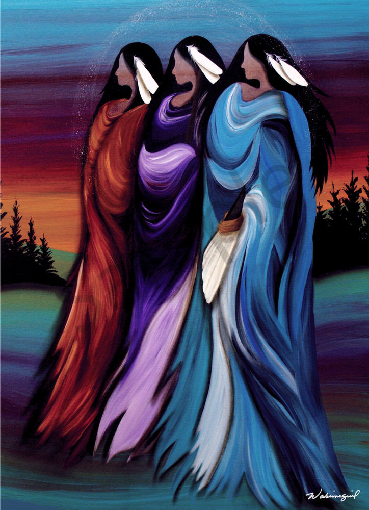 Three Sisters by Cree artist Wabimeguil