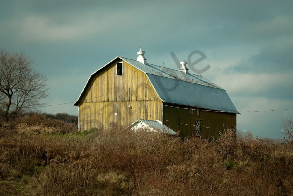 Aged Barn along the NY State Country Side Landscape Photo Wall Art by Landscape Photographer Melissa Fague
